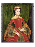 Portrait of a Woman, Aged 16, Previously Identified as Mary Fitzalan, Duchess of Norfolk, 1565 Premium Giclee Print by Hans Eworth