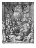 Life of Christ, Jesus Healing a Paralytic at Capernaum, Preparatory Study of Tapestry Cartoon Giclee Print by Henri Lerambert