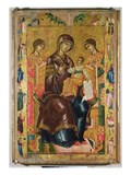 Icon of the Virgin and Child with Archangels and Prophets, 1578 (Tempera on Panel) Giclee Print by  Longin