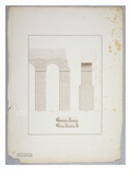 Aqueduct at Carthage (Pen and Ink with Wash on Paper) Giclee Print by James Bruce