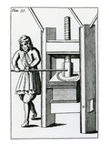 Pressing Books (Engraving) Giclee Print by  English
