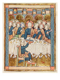 Ms 3016 Fol.14 the Last Supper, from 'Psautier a L'Usage De Paris (Vellum) Giclee Print by  French