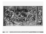 Life of Christ, the Raising of the Cross, Preparatory Study of Tapestry Cartoon Giclee Print by Henri Lerambert