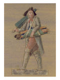 The Umbrella Seller (Gouache on Card) Giclee Print by  Lesueur Brothers