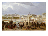 An Attack on a Barricade on the Pont De L'Archeveche, 1849 Giclee Print by Philippe Marie Chaperon