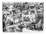 Spanish Reprisals after the Surrender of Haarlem in 1573 (Engraving) Giclee Print by  Netherlandish
