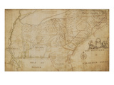 Map of the Southeastern Part of North America, 1721 (Pen and Ink and Wash on Paper) Giclee Print by William Hammerton