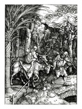 The Flight into Egypt, from the 'Life of the Virgin' Series, Published in 1511 (Woodcut) Giclee Print by Albrecht Dürer
