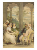 Prince Rasselas and His Sister Conversing in their Summer Palace on the Banks of the Nile, 1804 Giclee Print by Samuel Shelley