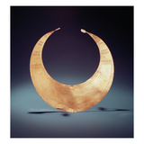 Lunula, Ross, County Westmeath, Early Bronze Age, C.2000 BC (Gold) Giclee Print by  Bronze Age
