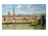 The Port at Rouen, 1878 Giclee Print by Torello Ancillotti