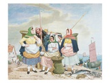 Fish Market by the Sea, c.1860 Premium Giclee Print by Richard Dadd