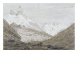Between Chamonix and Martigny, 1776 (Graphite, Pen and Wash on Paper) Giclee Print by John Robert Cozens