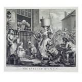 The Enraged Musician, 1741 (Engraving) Giclee Print by William Hogarth