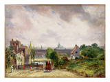 Sir Richard Steele's Cottage, Hampstead, C.1832 (Oil on Canvas) Giclée-Druck von John Constable