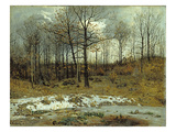 Last Snow at Weimar, 1889 Giclee Print by Karl Buchholz