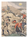 In Transvaal, the Taking of an English Battery by the Boers, Illustration from 'Le Petit Journal' Giclee Print by Henri Rudaux