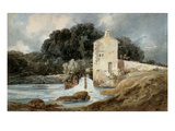 The Abbey Mill, Knaresborough, C.1801 (W/C with Bodycolour over Graphite on Laid Paper) Giclee Print by Thomas Girtin