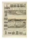 The West Prospect of the Town of Great Yarmouth in Norfolk, Engraved by John Harris (Fl.1686-1740) Giclee Print by J. Corbridge