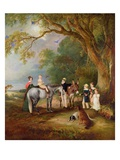 Miss Catherine Herrick with Her Nieces and Nephews, the Five Elder Children Premium Giclee Print by John E. Ferneley