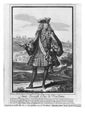 Louis Joseph De Bourbon, Duke of Vendome, known as 'The Great Vendome' (Engraving) (B/W Photo) Giclee Print by Robert Bonnart