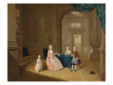 Portrait of a Group of Children, C.1743 (Oil on Canvas) Giclee Print by Arthur Devis