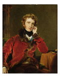 George James Welbore Agar-Ellis, Later 1st Lord Dover, C.1823-24 (Oil on Canvas) Giclée-tryk af Thomas Lawrence