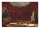 The Empress Josephine's (1763-1814) Bedroom at Malmaison, 1870 (Oil on Panel) Giclée-Druck von Jean Louis Victor Viger du Vigneau