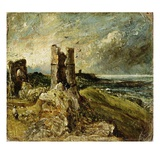 Sketch of Hadleigh Castle (Recto) (Oil on Millboard) Giclee Print by John Constable