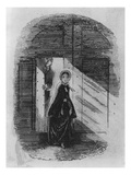Detail of Amy Dorrit from the Frontispiece to 'Little Dorrit' by Charles Dickens Giclee Print by Hablot Knight Browne