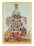 The Pillar of the State, or John Bull Overloaded, after Cruikshank in 1819, 1827 Giclee Print by Henry Heath