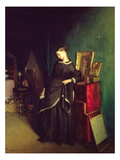 The Widow, C.1850 (Oil on Canvas) Giclee Print by Pavel Andreevich Fedotov