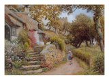 A Country Lane (W/C on Paper) Giclee Print by Arthur Claude Strachan