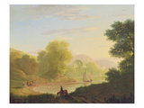 An Imaginary Coast Scene, with the Temple of Venus at Baiae, 1773 Giclee Print by Thomas Jones