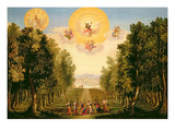 Prologue: the Delightful Woodland Island of Naxos Giclee Print by Giacomo Torelli