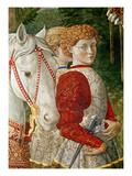 Two Liveried Attendants and the Head of Lorenzo the Magnificent's Horse Giclée-Druck von Benozzo di Lese di Sandro Gozzoli