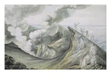 The Ascent of Vesuvius, 1785-91 (W/C over Graphite on Paper) Giclee Print by Henry Tresham