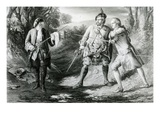 Rob Roy Parting Duellists Rashleigh and Francis Osbaldistone, Engraved by John Le Conte Giclee Print by James Blake McDonald