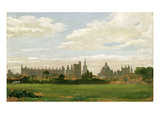 A View of Oxford (Oil on Millboard) Giclee Print by William Turner
