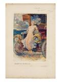 Programme for Banquet, 'Die Zukunft' ('The Future') 1905 (Photogravure on Menu Card) Giclée-Druck von Hubert von Herkomer
