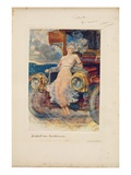 Programme for Banquet, 'Die Zukunft' ('The Future') 1905 (Photogravure on Menu Card) Giclee Print by Hubert von Herkomer