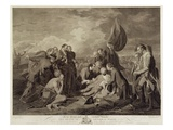 The Death of General Wolfe (1727-59), Engraved by William Woollett (1735-85) C.1776 (Engraving) Giclee Print by Benjamin West