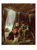 The Woodcutter's Meal, 1873 (Oil on Panel) Giclee Print by Pierre Edouard Frere