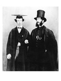 Arthur Munby and His Father, C.1851 (B/W Photo) Giclee Print by  English Photographer