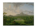 View of Powerscourt, County Wicklow, c.1760-2 Premium Giclee Print by George the Elder Barret