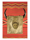 Navajo Buffalo Moon Blanket, from Arizona (Wool) Premium Giclee Print by  American