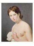 Portrait of a Young Girl. C. 1795 (Oil on Canvas) Reproduction proc&#233;d&#233; gicl&#233;e par Jacques Louis David