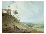 Ruins on Pir Pihar, Near Monghy, Bihar, 1790 (W/C over Graphite on Paper) Giclee Print by Thomas Daniell