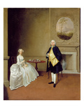 Mr and Mrs Hill, C.1750-51 (Oil on Canvas) Giclee Print by Arthur Devis