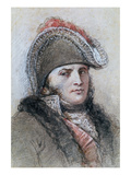 Portrait of Marshal Davout, Prince D'Echmuhl (Pen and Ink and Wash on Paper) Giclee Print by Benedict Masson
